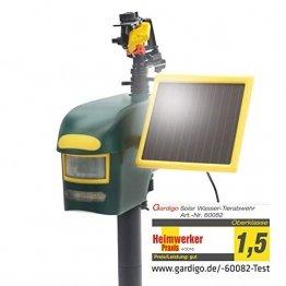 Gardigo Solar Wasserstrahl Tiervertreiber | Reiherschreck, Katzenschreck, Hundeschreck, Taubenschreck | Reichweite bis zu 10m - 1