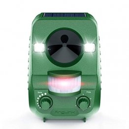 AngLink 2020 Solar Katzenschreck Ultraschall abwehr mit Batteriebetrieben und Blitz Empfindlichkeit Wetterfest Hundeschreck Tiervertreiber für Katzen, IPX44 Wasserdichter, 5 Modus - 1