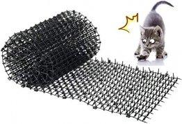 Kyrieval Dornengitter Tier-Barriere Garten Katze Tierabwehr Scat Spike Matte, Anti-Katzen-Netzwerk Graben Stopper Prickle Strip Home Spike Matte - 1